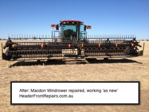 Macdon Windrower Front-Repaired- As New by Header Front Repairs