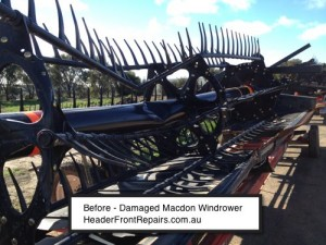 Macdon Windrower Front damaged